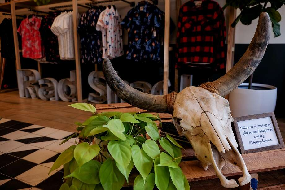 California Cowboy's Design Saloon opened in late January at 1841 Polk St., S.F. The California Cowboy brand concepts are inspired by daily experiences of the active Californian; after surfing, happy hour, or skiing. Photo: Dick Lowry