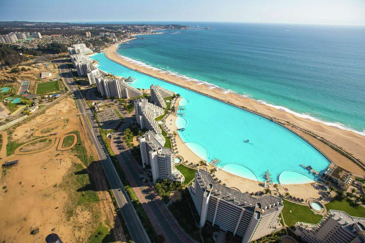 This 20-acre pool by Crystal Lagoons at a resort in Chile was the largest in the world when it opened.