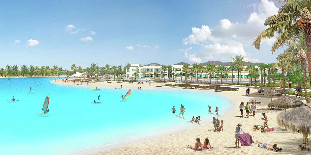 An artist's rendering of a pool in Florida by Crystal Lagoons.