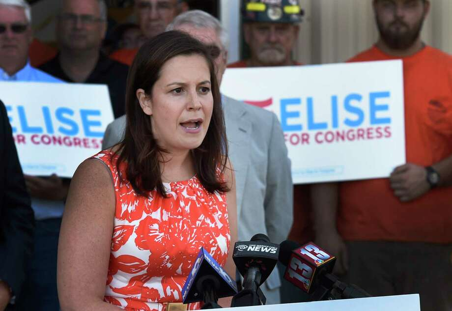 U.S. Rep. Elise Stefanik speaks during a campaign event at D. A. Collins on Aug. 29, 2016, in Wilton, N.Y. (Skip Dickstein/Times Union archive) Photo: SKIP DICKSTEIN / 20037817A