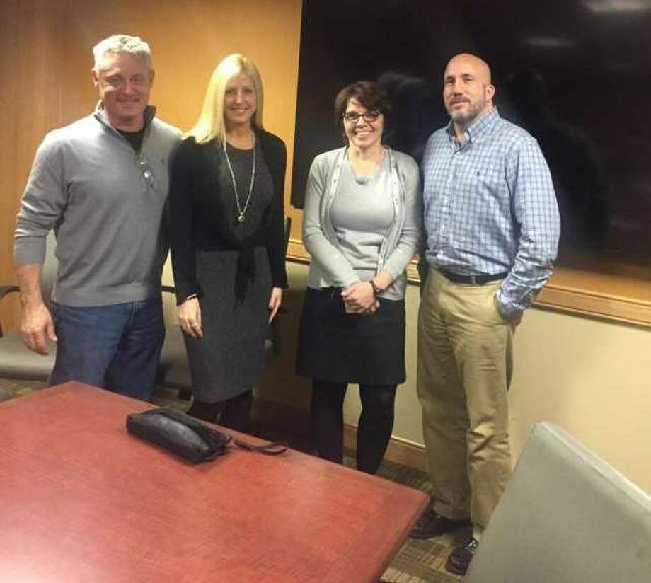From left, Shelters of Saratoga volunteers Ed and Lisa Mitzen with Board of Directors President Marcy Dreimiller and Executive Director Michael Finocchi in February 2017. (Wendy Liberatore/Times Union) Photo: Picasa