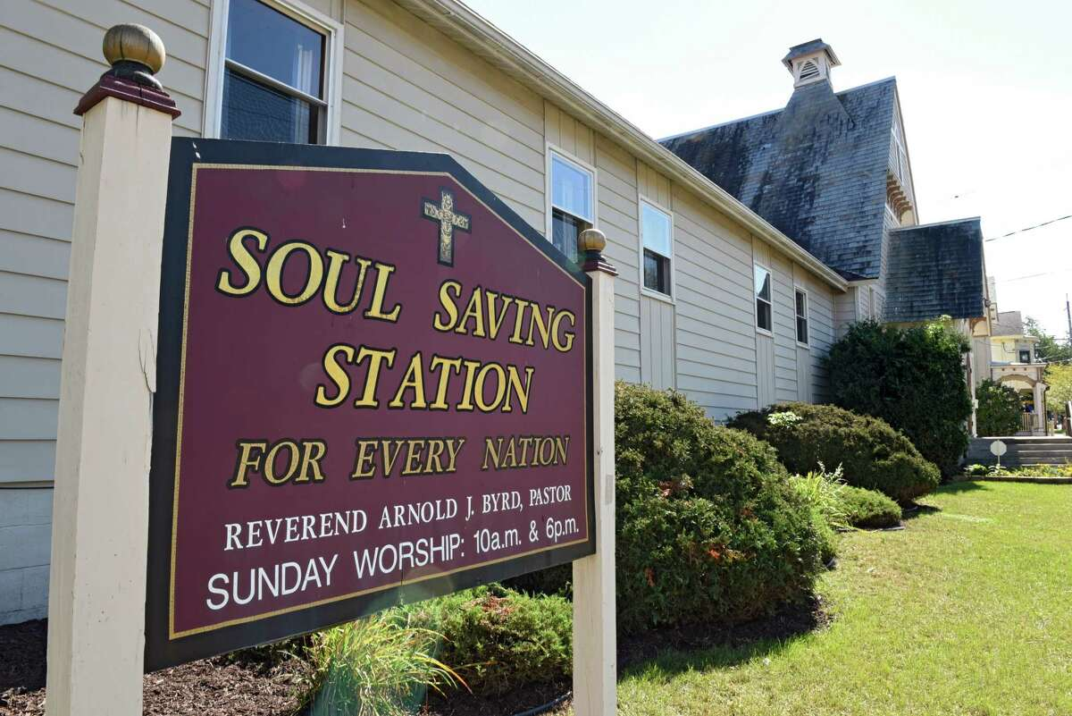 Exterior of Soul Saving Station Church at 62 Henry St. on Tuesday, Sept. 20, 2016 in Saratoga Springs, N.Y. The Church housed Code Blue for two winters. (Lori Van Buren / Times Union) (Lori Van Buren / Times Union)