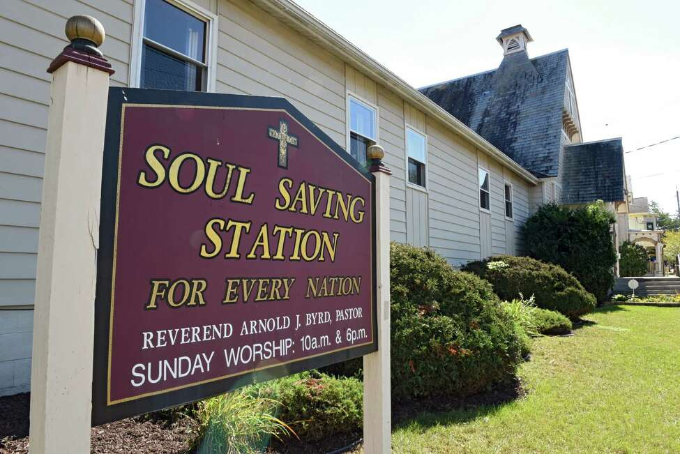Exterior of Soul Saving Station Church at 62 Henry St. on Tuesday, Sept. 20, 2016 in Saratoga Springs, N.Y. TheChurch housed Code Blue for two winters. (Lori Van Buren / Times Union)(Lori Van Buren / Times Union)
