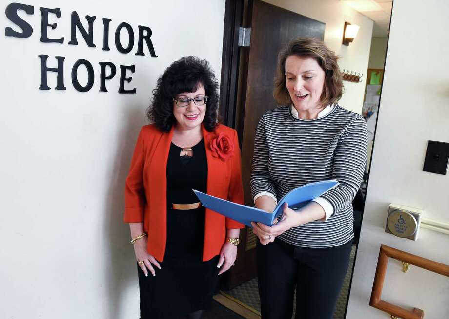 Executive director Dr. Nicole MacFarland, left, and clinical director Marianne Hunter at the Senior Hope Counseling and Senior Hope Foundation offices Thursday Feb. 9, 2017 in Albany, NY.  (John Carl D'Annibale / Times Union) Photo: John Carl D'Annibale / 20039607A
