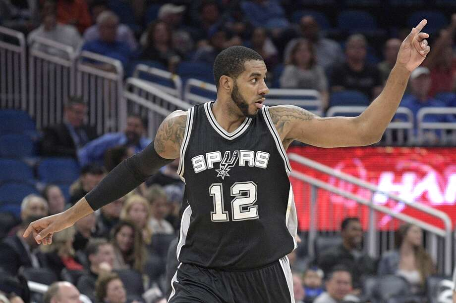 Spurs forward LaMarcus Aldridge made the most of his last game before the All-Star break, scoring a game-high 23 points to help beat Orlando, 107-79, Wednesday night at the Amway Center in Orlando. (AP Photo)