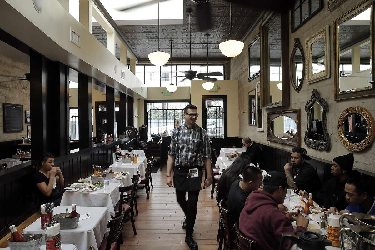 The dining room at Brenda's French Soul Food in San Francisco.