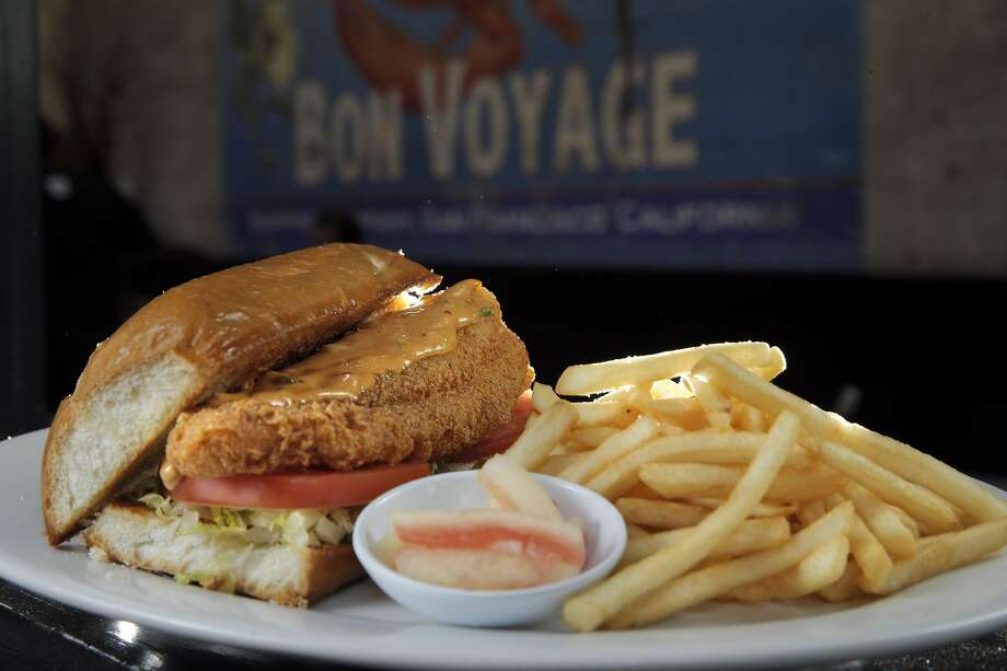 Cornmeal-fried catfish po'boy with chipotle remoulade on toasted French roll at Brenda's French Soul Food in S.F. Photo: Carlos Avila Gonzalez, The Chronicle