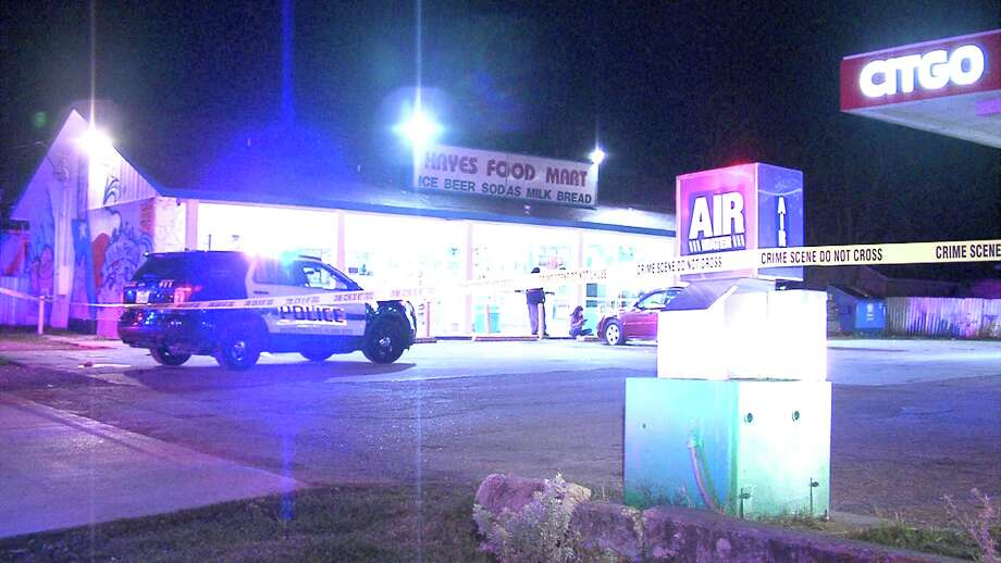 Officers first responded to gunshots at the Hays Food Mart near North New Braunfels Avenue and Hays Street around 12:45 a.m. on Thursday, Feb. 16, 2017, after receiving reports of a dark-colored or maroon SUV shooting at the gas station. Photo: Ken Branca