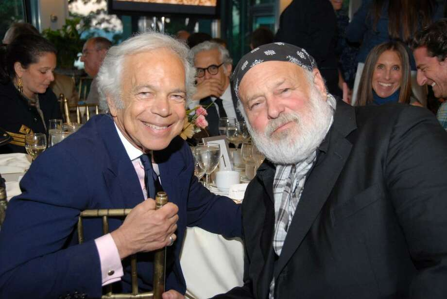 "Photographer and honoree Bruce Weber, right, with fashion icon Ralph Lauren at Green Chimneys ""Life in Focus"" Spring Gala. Photo by George Stilabower Photo: Contributed Photo / Greenwich Time Contributed"