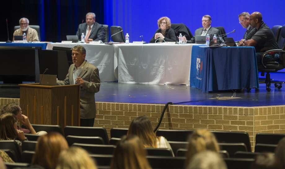 MISD school board members meet for a meeting Monday 02-13-17. Tim Fischer/Reporter-Telegram Photo: Tim Fischer/Midland Reporter-Telegram