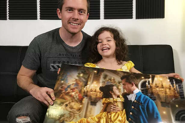 Josh Rossi treated his 3-year-old daughter to a very special Beauty and the Beast Valentine's Day present.