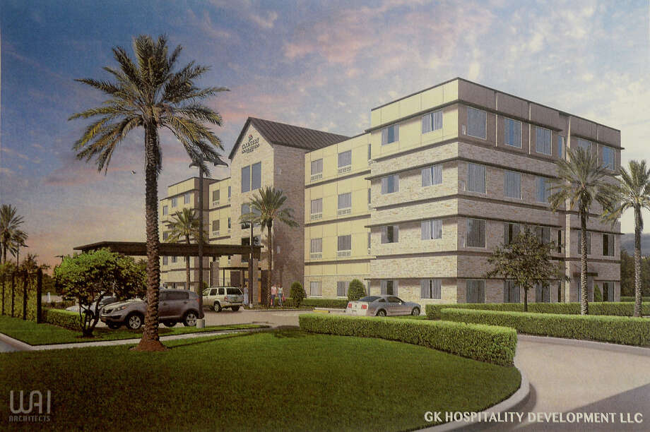 An artist rendering shows the proposed 80-room Country Inn and Suites hotel that developers hope to build in Silsbee. Photo taken Wednesday, February 15, 2017 Kim Brent/The Enterprise Photo: Kim Brent