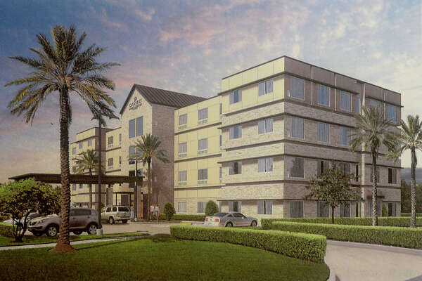 An artist rendering shows the proposed 80-room Country Inn and Suites hotel that developers hope to build in Silsbee. Photo taken Wednesday, February 15, 2017 Kim Brent/The Enterprise