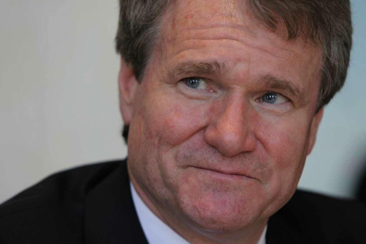 Brian Moynihan, the CEO of Bank of America is interviewed Wednesday, Feb. 15, 2017, in Houston. ( Steve Gonzales / Houston Chronicle )