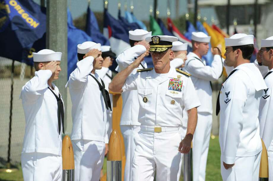 Vice Adm. Robert S. Harward during a change-of-command ceremony in Coronado, Calif., July 7, 2011. Harward, a former Navy SEAL and deputy commander of the US Central Command who now works at Lockheed Martin and is close with Defense Secretary Jim Mattis, is reportedly the presidentÕs top choice to replace Michael Flynn as his national security adviser. (U.S. Navy via The New York Times) -- FOR EDITORIAL USE ONLY -- Photo: US NAVY, HO / NYT / US NAVY