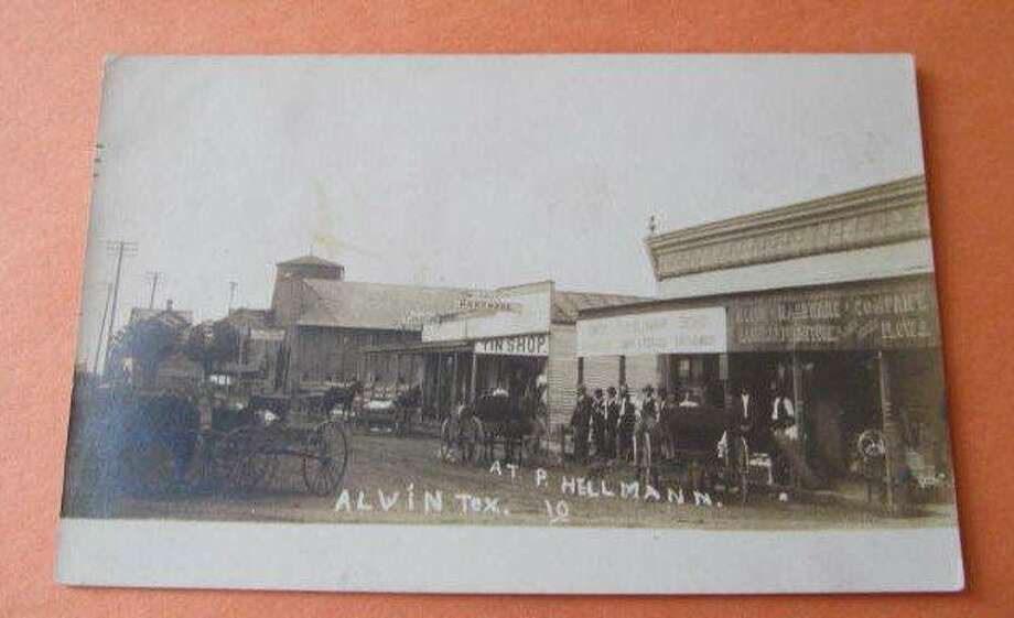 Alvin's Gordon Street, shown around the time of a1902 fire that destroyed 32 businesses. The fire raged for more than three hours after starting in the second floor of a hardware store.Click through the slideshow to see more historical photos of Alvin's early years.