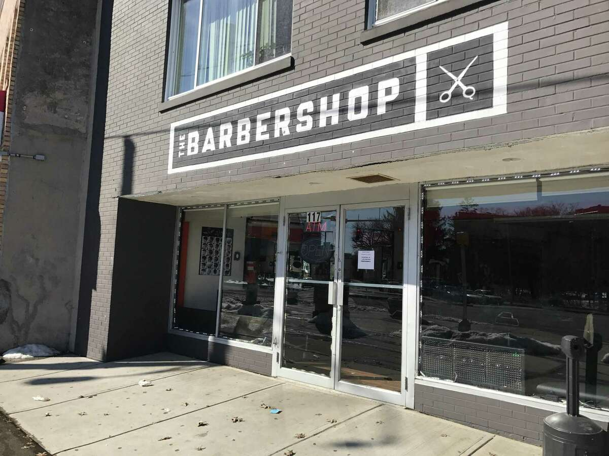 A barber shop in Stamford is closed as part of a nationwide protest on Feb. 16, 2017.