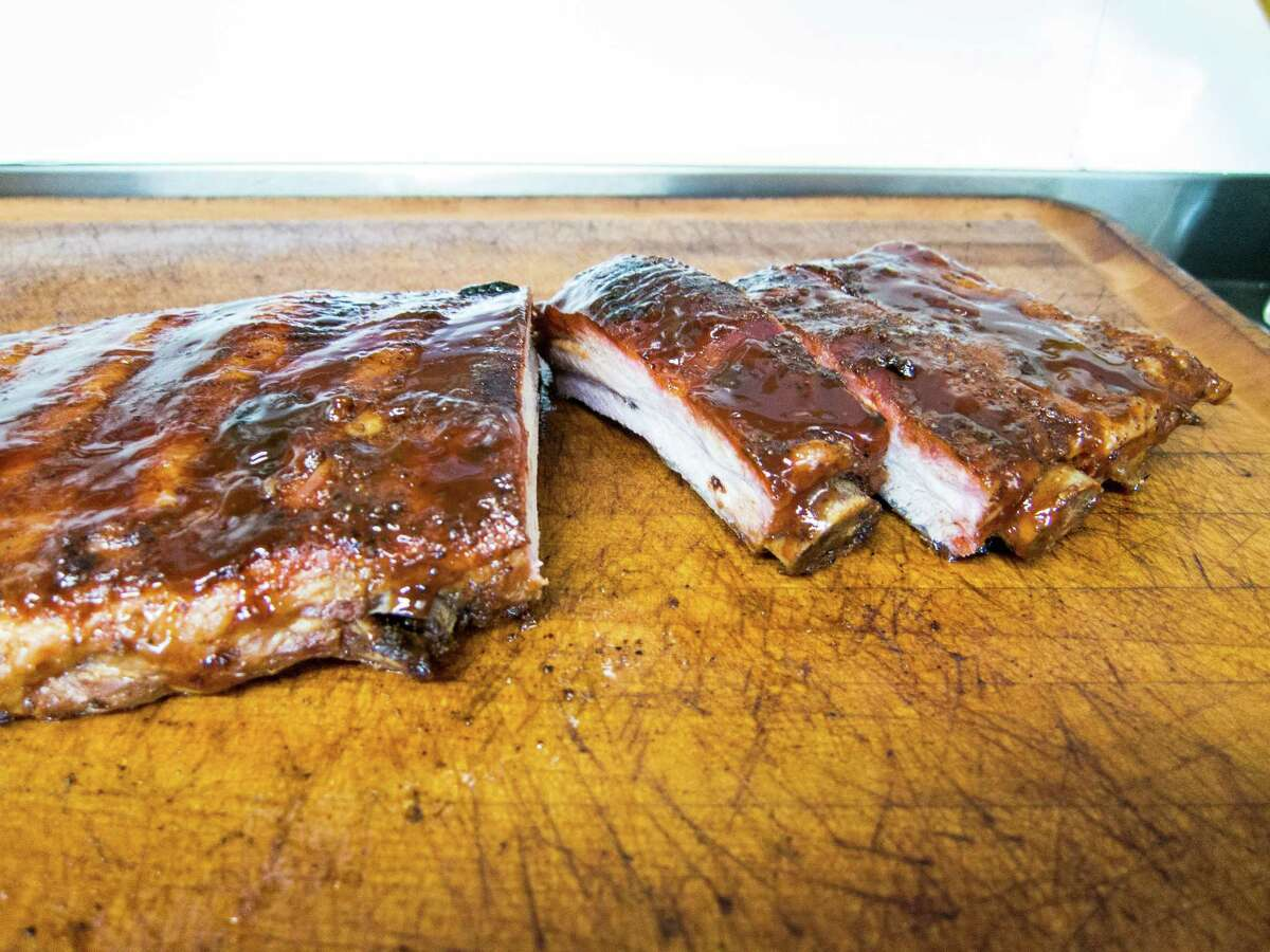 Ribs are a specialty at The Feedlot BBQ in Magnolia.