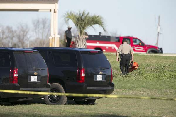 Travis County Sheriff's Department personnel work at Austin 1st Church as they investigate the scene of an officer involved shooting on Burch Drive off Highway 71 in Del Valle on Wednesday, February 15, 2017. The Sheriff's department says a man kidnapped a woman at gunpoint from a local business before a shooting occurred after they encountered a Travis County deputy. The woman is dead and the man is critically injured, police said. DEBORAH CANNON / AMERICAN-STATESMAN
