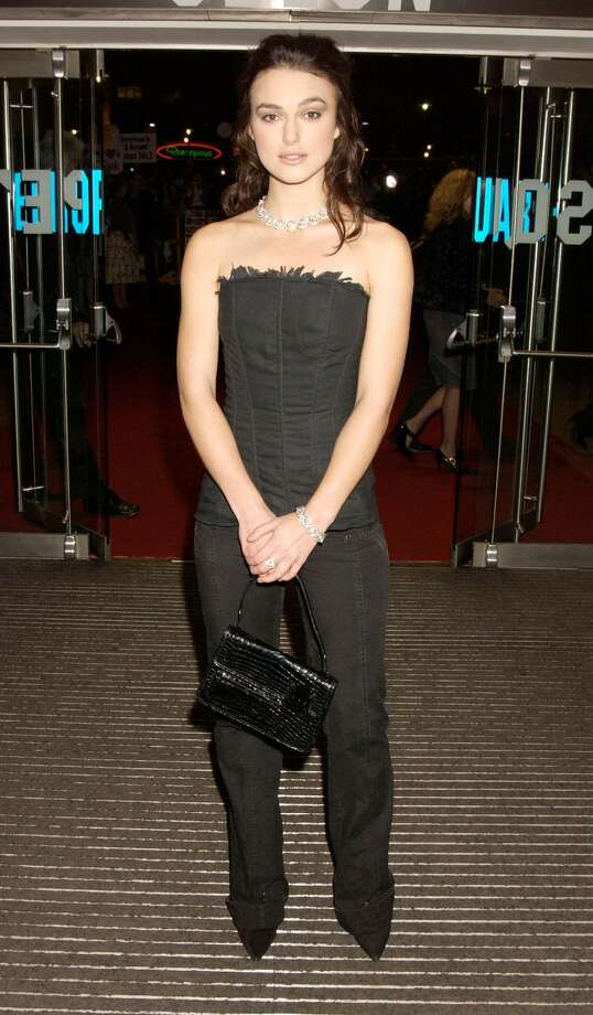 "Keira Knightley at the ""Love Actually"" premiere in London. Photo: Dave Benett/Getty Images"