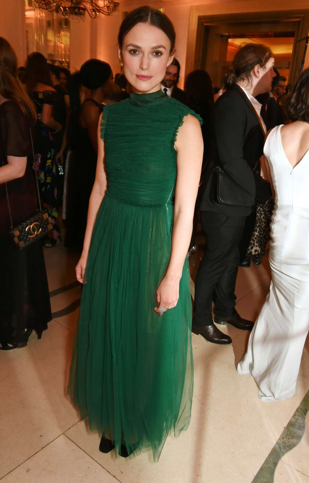 Keira Knightley attends a party in London in 2016.