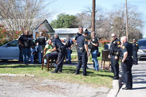 San Antonio police are responding to a shooting involving at least one officer at the 700 block of Vickers Avenue on the Southwest Side Thursday, Feb. 16, 2017.