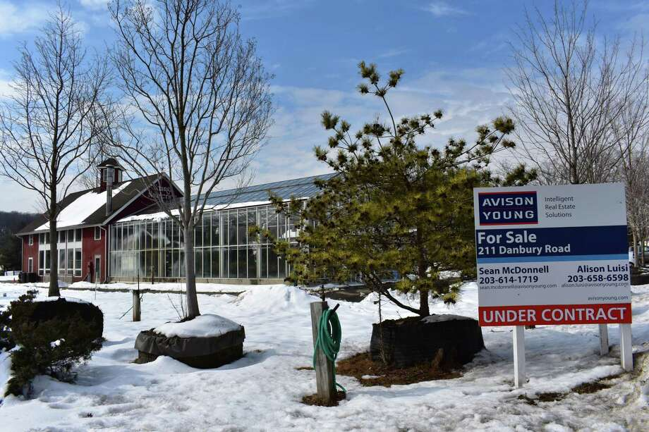 The Young's Nurseries property at 211 Danbury Road on Feb. 15, with the property under contract to be sold. Photo: Alexander Soule / Hearst Connecticut Media / Stamford Advocate