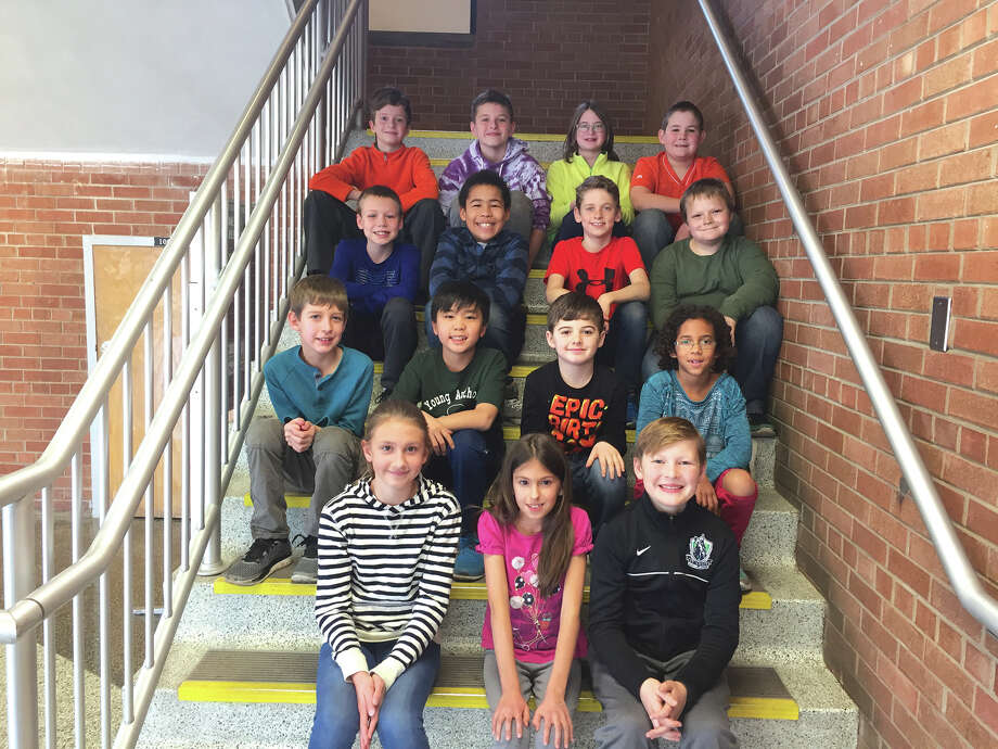 Woodland Elementary held its School Spelling Bee on Jan. 20, and fifth grader Allison Mills won the title.  Third grader Merissa Quart-Ackod placed second while fourth grader Max Waltenberger placed third. Mills will move on to the McKendree University (regional) Bee on March 11. Mills, Quart-Ackod and Waltenberger will participate in the District 7 spelling bee on Feb. 23. First Row: Allison Mills, Merissa Quart-Ackod and Max Waltenberger. The following students were classroom winners that competed in the school's spelling bee.  Second Row: Max Horton, Derrian Dillon, Kaan Demirer and Gabby White. Third Row: Drew Blasingim, Bruno Vasconcelos, Zach Cohn and Michael Anderson. Last Row: Max Miller, Andrew Byron, Erin Lang and Scott Wilfong. Not pictured (absent) Tom Holland. Photo: Julia Biggs • Intelligencer