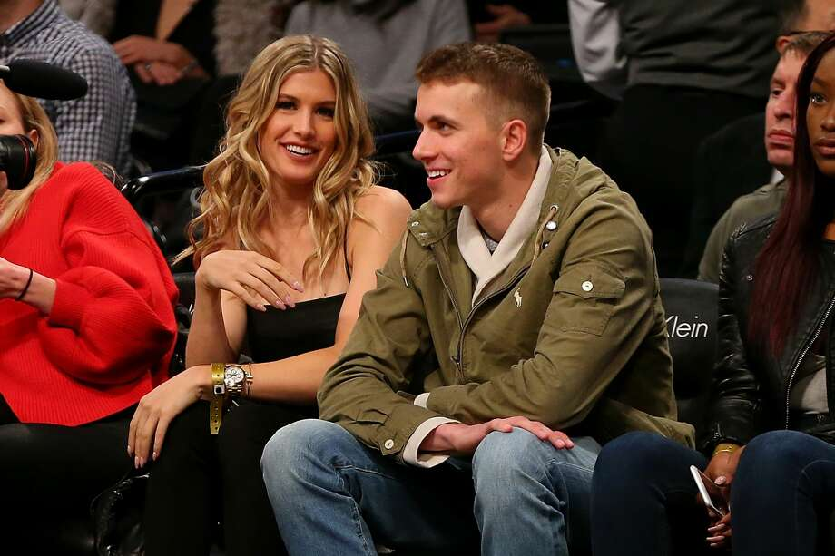 Tennis Pro Genie Bouchard attend a game with her twitter date John Goehrke at Barclays Center on February 15, 2017 in Brooklyn borough of New York City. Genie Bouchard, who bet the Atlanta Falcons to win the Super Bowl, agreed to go on a date with a random fan. NOTE TO USER: User expressly acknowledges and agrees that, by downloading and or using this photograph, User is consenting to the terms and conditions of the Getty Images License Agreement.  (Photo by Mike Stobe/Getty Images) Photo: Mike Stobe/Getty Images