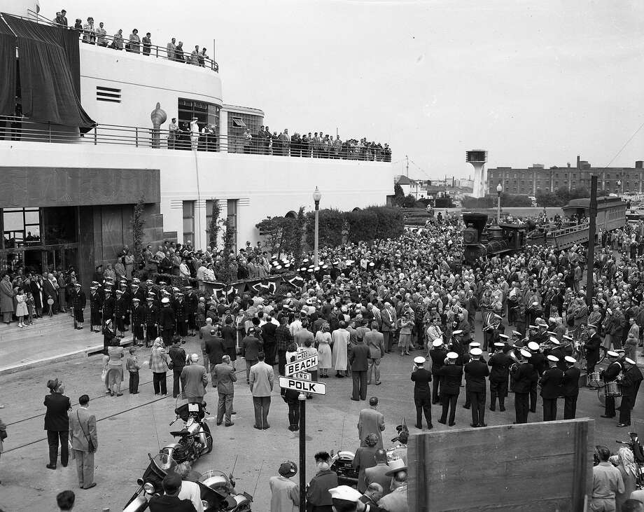 The opening of the Maritime Museum in the old Aquatic Park casino building on May 27, 1951. Photo: Duke Downey, The Chronicle