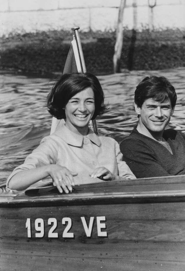 Emmanuelle Riva and Thomas Milian at the Venice Film Festival, 1960. Photo: Keystone