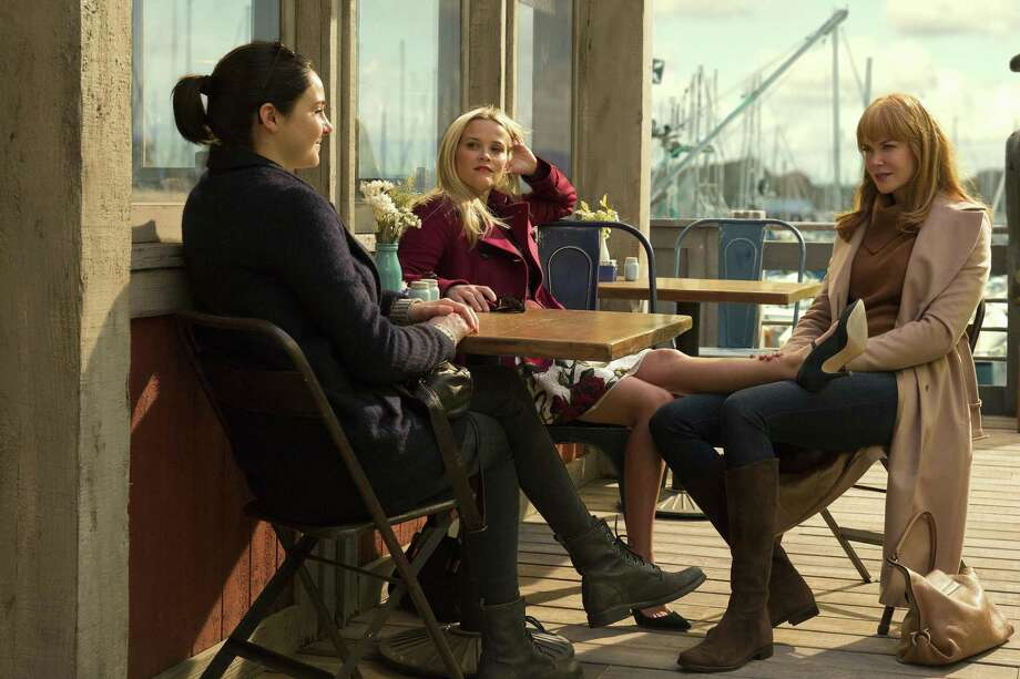 "Shailene Woodley, Reese Witherspoon and Nicole Kidman chat about their lives in HBO's ""Big Little Lies."" Photo: HBO"
