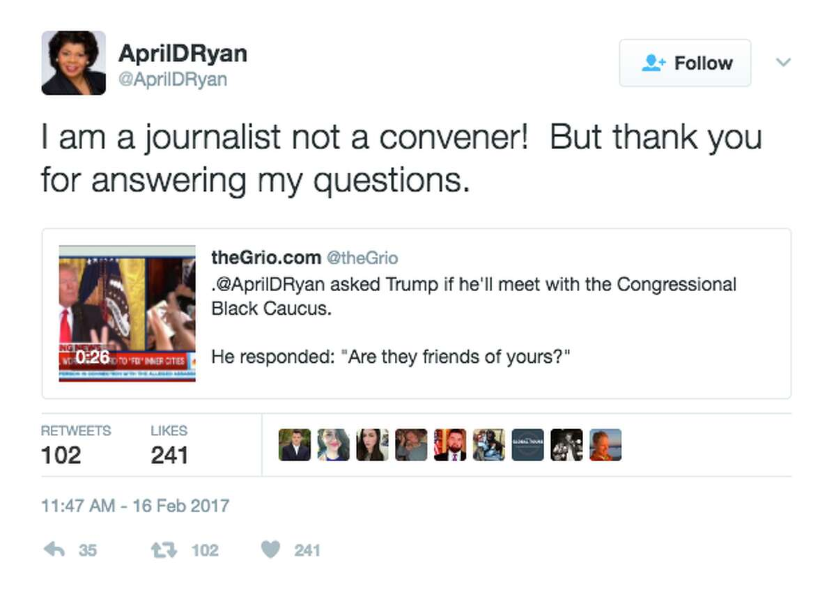 Twitter reacts to President Trump's press conference on Feb. 16, 2017.