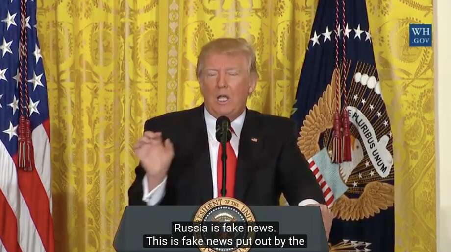 Russia is fake news. Russia — this is fake news put out by the media. The real news is the fact that people, probably from the Obama administration because they're there, because we have our new people going in place, right now.