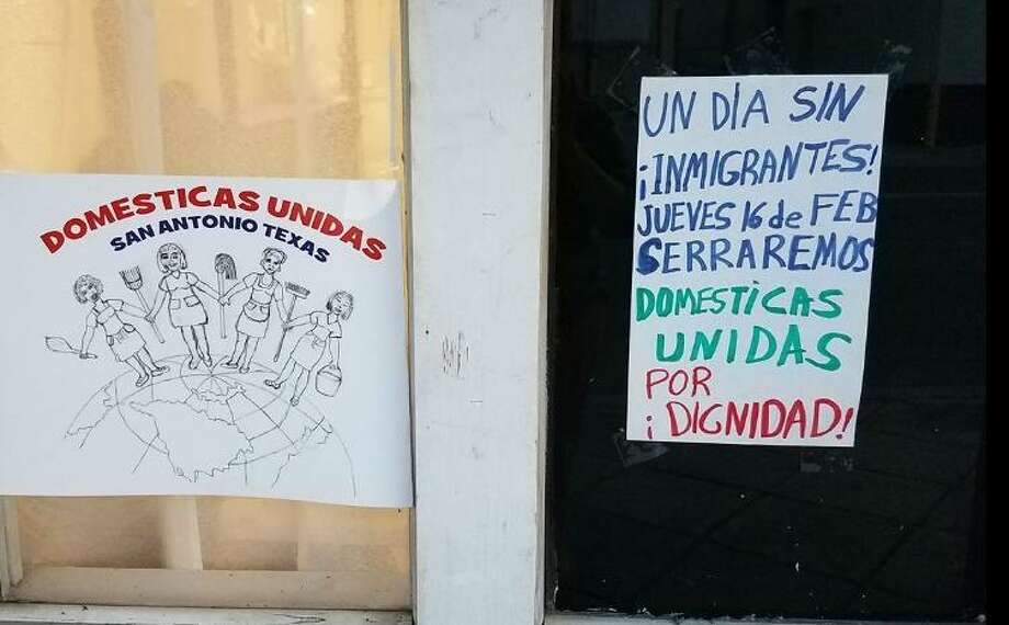 Domesticas Unidas in San Antonio shows its support for Thursday's nationwide Day Without Immigrants strike. Photo: Facebook Screengrab