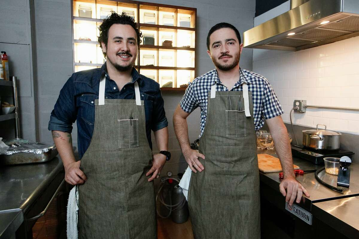 Chefs Rico Torres (left) and Diego Galicia are co-owners of Mixtli.