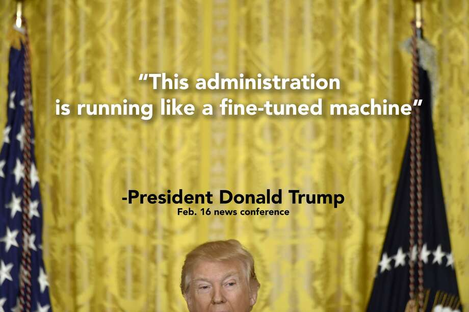 Things President Donald Trump said in a news conference on Feb. 16, 2017.See how users on Twitter reacted. Photo: Photo Illustration/Photo Via Getty Images