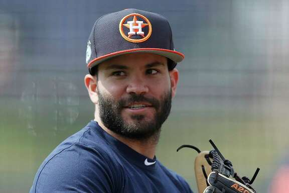 Houston Astros second baseman Jose Altuve as he worked out with the other position players who came to camp early during spring training at The Ballpark of the Palm Beaches, in West Palm Beach, Florida, Thursday, February 16, 2017.