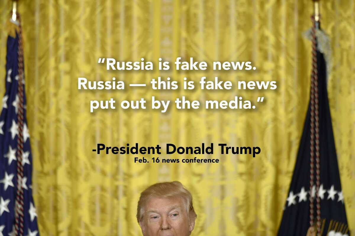 Things President Donald Trump said in a news conference on Feb. 16, 2017. See how users on Twitter reacted.