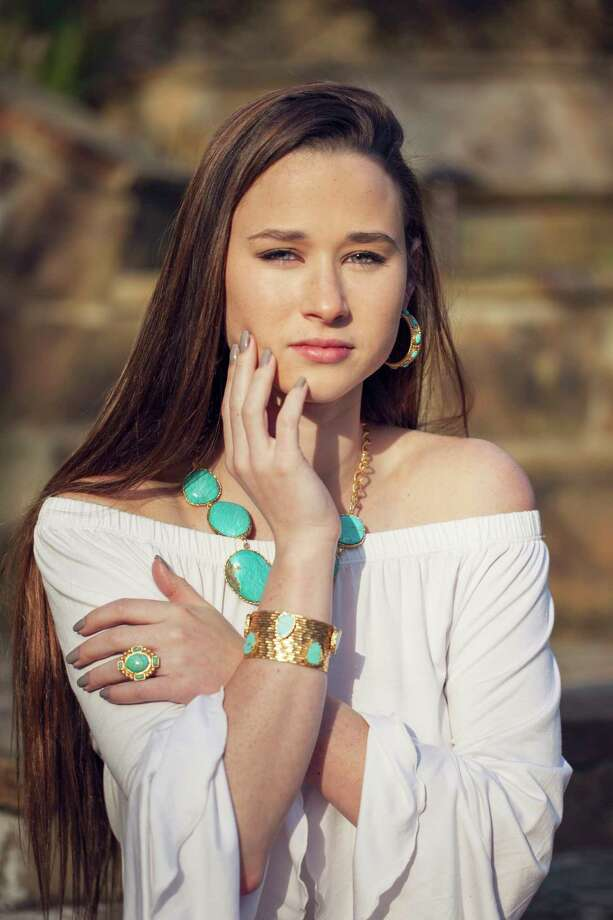 Navajo hoops, $250, a Navajo statement ring, $265, necklace, $525, and stackable cuff, $388, from Christina Greene Photo: Christina Green