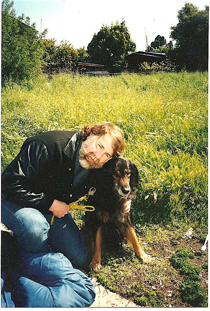Chronicle outdoors writer Tom Stienstra and his dog Rebel, one week before his dog passed at the age of 17, after thousands of miles on the trail, exploring the lakes, streams and wildlands across the West.