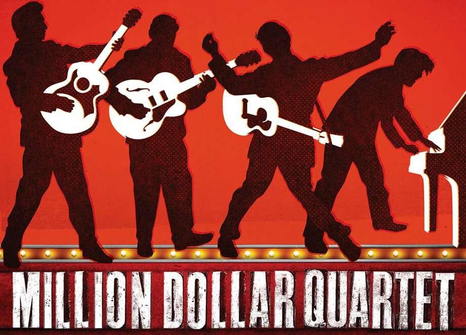 "The promotional poster for ""Million Dollar Quartet."""
