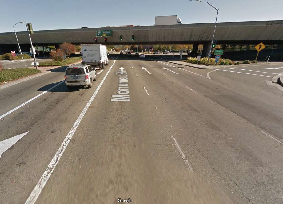 "I-680 over Monument Blvd. Pleasant HillThe Department of Transportation's 2015 National Bridge Inventory found over 2,000 ""structurally deficient"" bridges and overpasses in the state. One of them was the overpass over Monument Blvd. ""Bridge rehabilitation because of general structure deterioration or inadequate strength,"" the report reads. Photo: Google Maps"