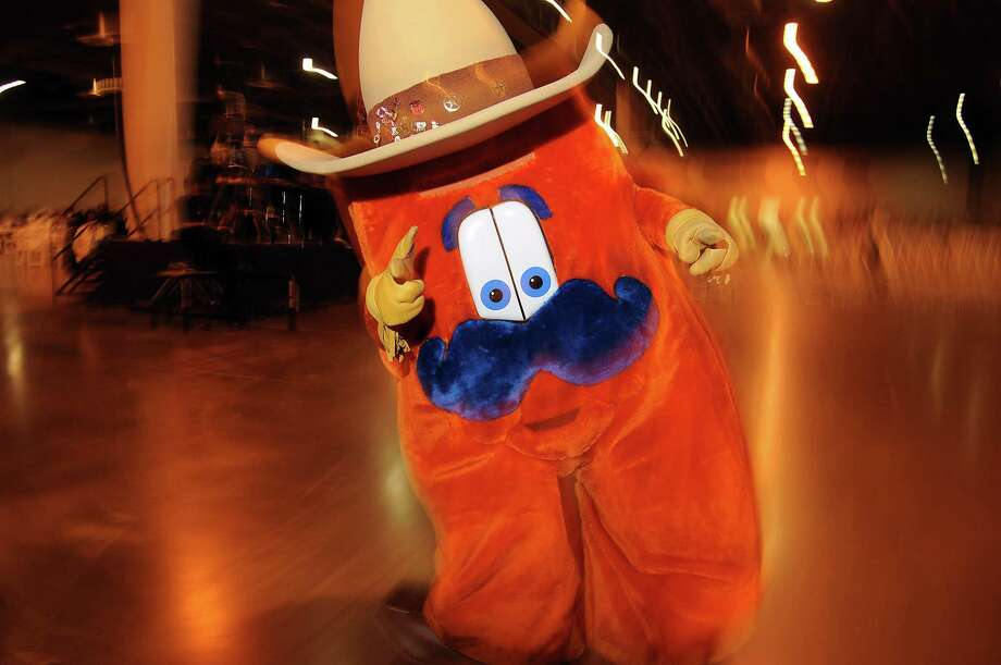 Howdy is the Houston Livestock Show and Rodeo mascot. Photo: Dave Rossman, Freelance / © 2013 Dave Rossman