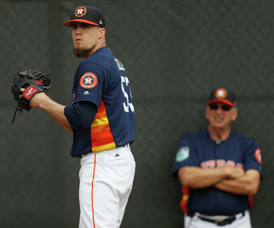 Houston Astros relief pitcher Ken Giles pitches during spring training at The Ballpark of the Palm Beaches, in West Palm Beach, Florida, Thursday, February 16, 2017. Photo: Karen Warren, Houston Chronicle / 2017 Houston Chronicle