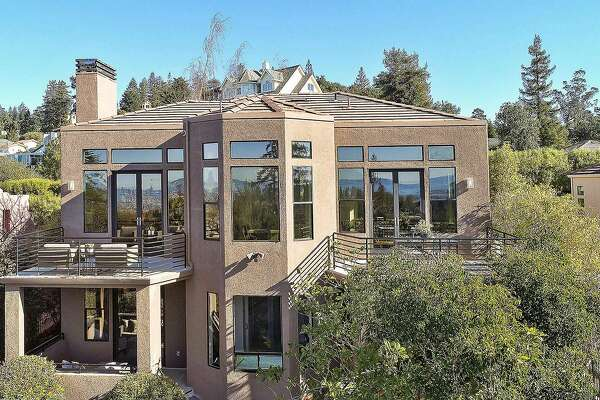 A rear shot of 10093 Broadway Terrace, which was built in 1994 and available for $1.35 million.�