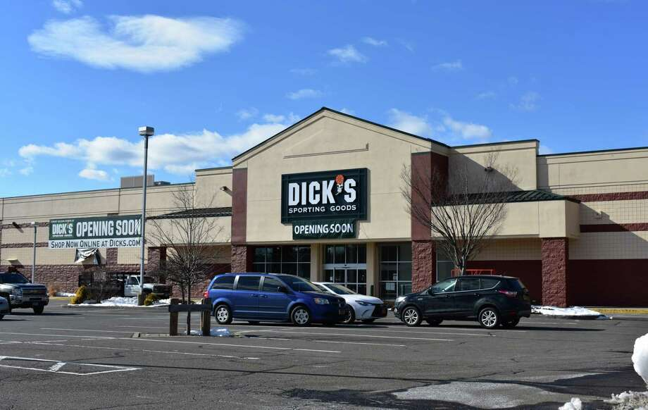 The exterior of the Dick's Sporting Goods on Connecticut Avenue in Norwalk is being readied for a March opening. The retailer took over the space vacated by Sports Authority. Photo: Alexander Soule / Hearst Connecticut Media / Stamford Advocate