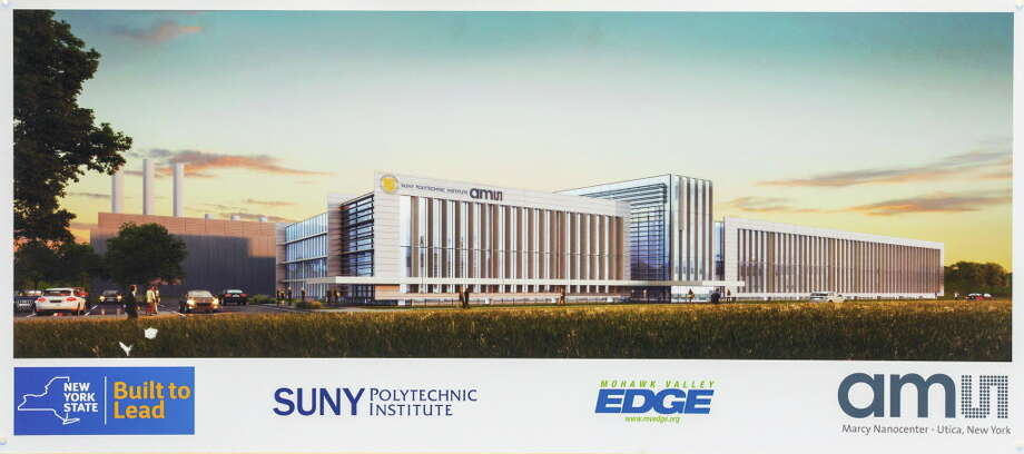 Rendering of  SUNY Polytechnic Institute's new 360,000 square foot state-of-the-art computer chip fab at the Marcy Nanocenter, which will be home to ams AG's advanced sensor manufacturing on April 20, 2016, in Marcy, NY. Photo: Philip Kamrass / Office of Governor Andrew M. Cuomo
