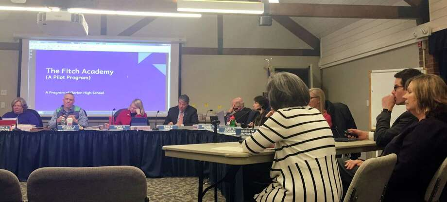 An alternative high school program was discussed at the Darien school board meeting Feb. 14. Photo: Erin Kayata / Hearst Connecticut Media / Darien News