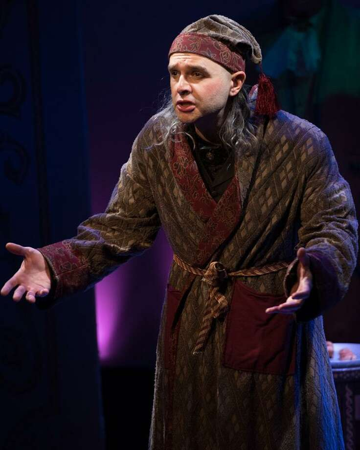 """Geoff Gilbert, chief of custodians at town hall in Darien, performs in """"Amadeus"""" at the Downtown Cabaret Theatre in Brideport. Photo: Contributed Photo / Darien News"""
